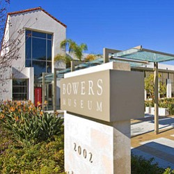 Exterior image of the Bowers Museum located at 2002 North Main Street Santa Ana, California 92706. San Diego Museum of Art has conducted a bus trip to this museum on January 10th, 2013.