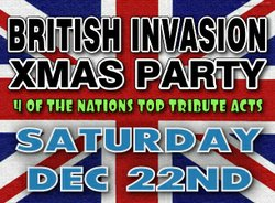 Promotional graphic for the British Invasion Christmas Tributes To: The Beatles, Elton John, Billy Idol & Elvis Costello at 8:30 p.m. on December 22, 2012 at House of Blues San Diego. Courtesy of House of Blues San Diego