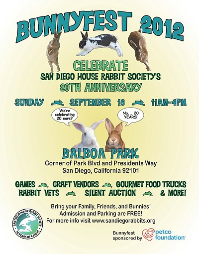 Promotional graphic for Bunnyfest 2012. Courtesy of San Diego House Rabbit Society