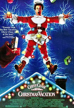 "Promotional movie poster of ""Christmas Vacations"" (1989) playing at The Pearl Hotel on December 19th."