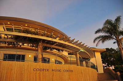 Exterior image of Point Loma Nazarene University's Copper Music Center.