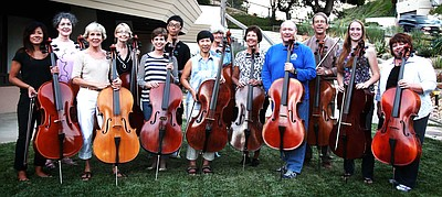 Promotional photo of Cello ensemble Coterie Celli. Courtesy of Dr. Angela Yeung