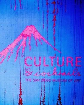 Promotional graphic for the Culture & Cocktails series at the San Diego Museum of Art.