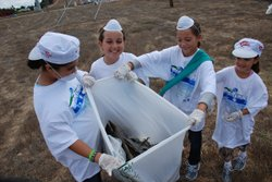 Image of volunteers picking up trash from a previous Beautify Chula Vista Day.