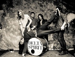 Image of band members of Delta Spirit.