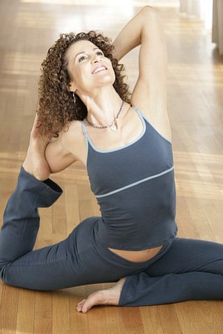 Image of yoga instructor, Desiree Rumbaugh.