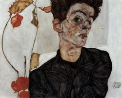 Egon Schiele's Self-portrait, 1912.