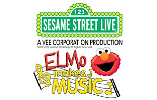 "Promotional graphic for ""Sesame Street Live: Elmo Makes Music!"""
