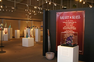 "Photo of the 15th annual ""Galaxy Of Glass"" exhibition, on display September 9 – October 21, 2012, at the Fallbrook Art Center. Courtesy of Fallbrook Art Center"