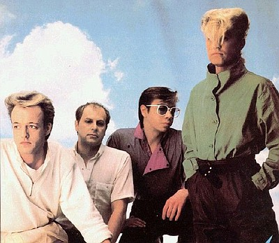 Image of 1980's band Flock of Seagulls.