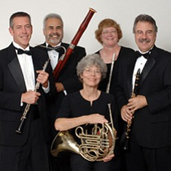 Image of the Grossmont Symphony Woodwind Quintet who will be performing at Grossmont College on November 15th.