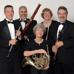 Image of the Grossmont Symphony Woodwind Quintet who will be performing at the All Saints Episcopal Church in San Diego on November 16th.