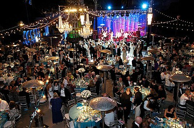 The post-performance party at 2011 Globe Gala Honoring Au...