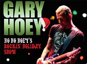 Promotional graphic for Gary Hoey's Ho Ho Hoey's Rockin' Holiday Show at House Of Blues San Diego, December 13, 2012 at 8:30 p.m.