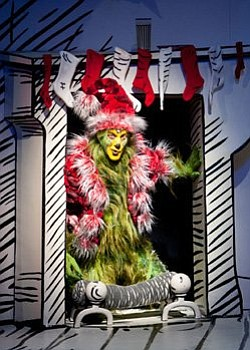 Steve Blanchard stars as The Grinch in the 2011 productio...