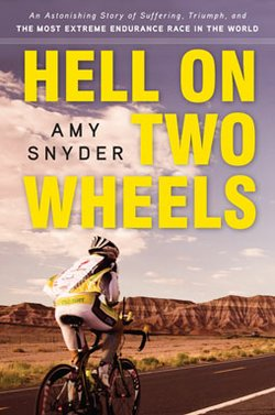 """Graphic cover of the book, """"Hell On Two Wheels,"""" by author Amy Snyder. Courtesy of Amy Snyder"""