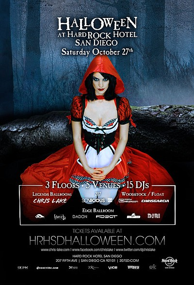 Promotional graphic for Halloween at Hard Rock Hotel San ...