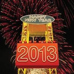 Promotional graphic for Kids' New Year's Eve at Legoland.