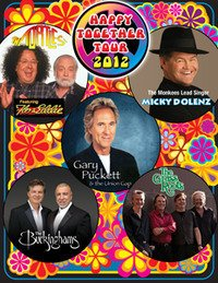 Promotional graphic for the Happy Together Tour 2012 performing at Humphrey's on July 11th.