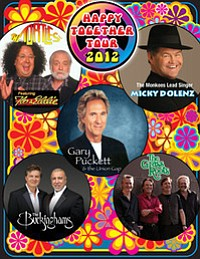 Promotional graphic for the Happy Together Tour 2012 perf...