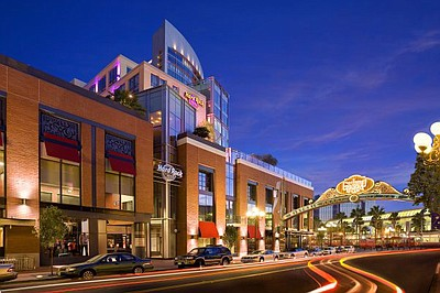 Exterior image of the Hard Rock Hotel located in the Gaslamp San Diego.
