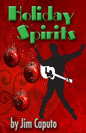 "Promotional graphic for Scripps Ranch Theatre's World Premier Of ""Holiday Spirits"" - A Comedy For The Season, November 10 - December 9, 2012."