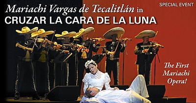 "Promotional graphic for the performance ""Cruzar la Cara d..."