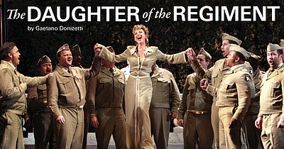 "Promotional graphic for ""Daughter of the Regiment"" being ..."