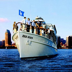 Promotional image of Hornblower Cruises & Events on the San Diego Bay.