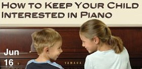 Promotional graphic for How to Keep Your Child Interested in Piano at Greene Music