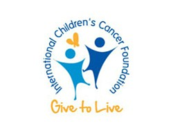 Graphic logo for International Children's Cancer Foundation
