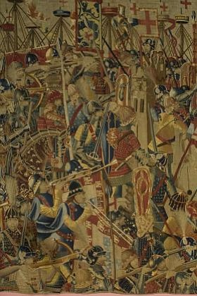 The Siege of Asilah (detail), Wool and silk, c.1470, Pastrana. Image provided by The San Diego Museum of Art. The exhibit will run from June 9th, 2012 through September 9th, 2012
