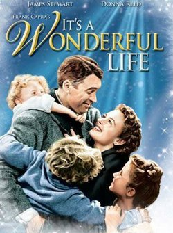 """Promotional movie poster for the film, """"It's A Wonderful Life."""""""