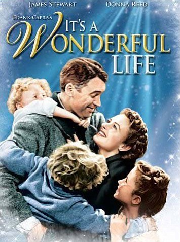 "Promotional movie poster for the film, ""It's A Wonderful Life."""