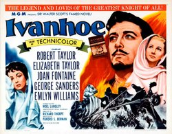 """Promotional movie poster of """"Ivanhoe"""" (1952)."""