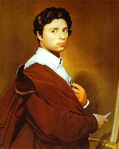 Image of French Neoclassical painter, Jean Auguste Dominique Ingres.