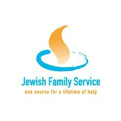 """Graphic logo for the Jewish Family Service """"One Source for a lifetime of help"""""""