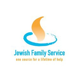 "Graphic logo for the Jewish Family Service ""One Source for a lifetime of help"""