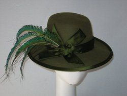 Promotional image of a Jill Courtemanche hat. Courtesy image of Jill Courtemanche Millinery.
