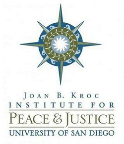 Graphic logo for the Joan B. Kroc Institute for Peace & Justice, University of San Diego.