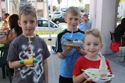 Promotional image of kids participating in Free Family Art Day at Oceanside Museum of Art.