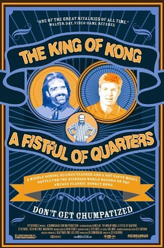 "Promotional graphic for the film ""The King of Kong: A Fis..."