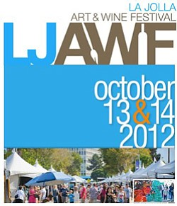 Promotional graphic for La Jolla Art & Wine Festival.