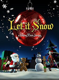 "Promotional image of ""Let it Snow"" playing at Reuben H. Fleet Science Center's Heikoff Dome Theater from November 16th through January 6th, 2013."