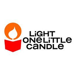 Graphical logo for Light One Little Candle.