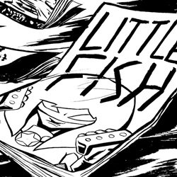 Promotional image of Little Fish Comic Book Studio. Image courtesy of Little Fish Comic Book Studio.