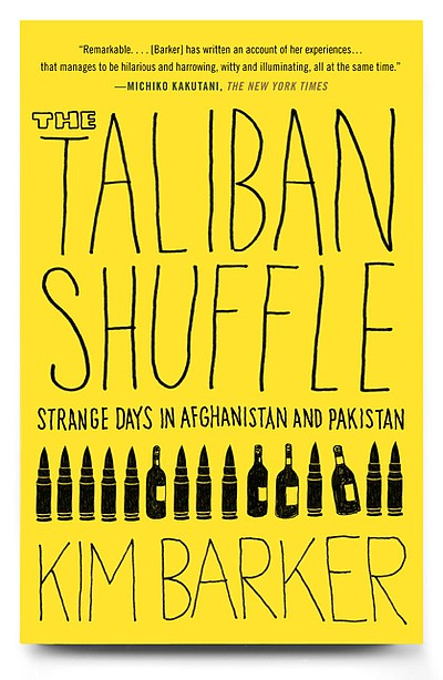 "Book cover of ""Taliban Shuffle"" written by Kim Barker."