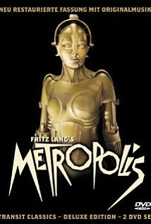 "Promotional graphic for the film, ""Metropolis (1927)"" that will be screening at the San Diego Central Library on August 3rd."
