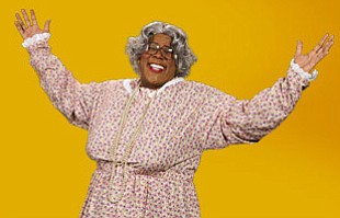 "Promotional graphic for Tyler Perry's ""Madea Gets A Job!""..."