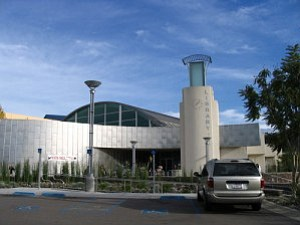 Exterior photo of Mission Valley Library.